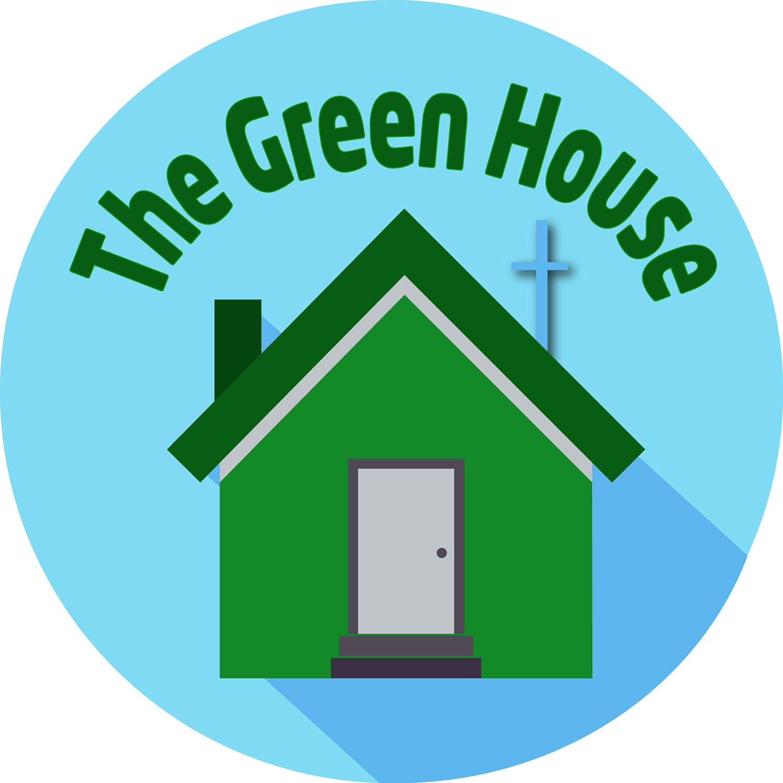 Green horse clipart